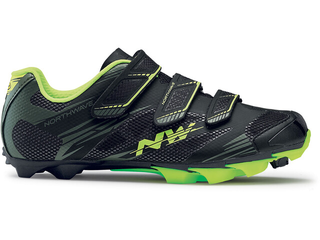 Northwave Scorpius 2 Shoes Men black/military/yellow fluo